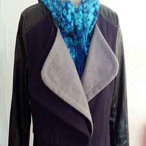 Mia Chica Jackets & Blazers - Cute Faux Leather and Wool Jacket