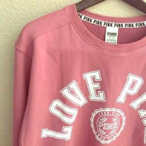 93a2468768 PINK Victoria s Secret Tops - SALE Today Only! PINK Campus Crew 🤓 Soft  Begonia