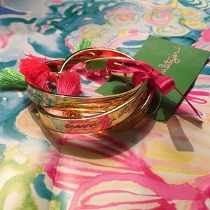 New Lily Pulitzer tassel bracelet set