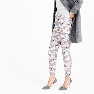 J. Crew Pants - JCrew Collection Italian Silk Pants Thistle Floral