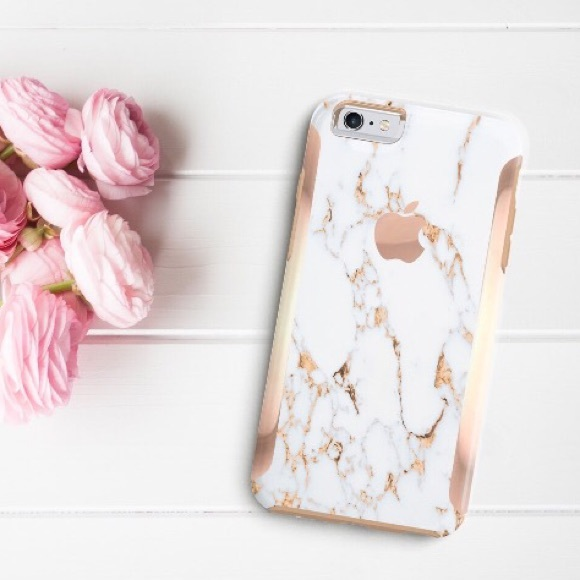competitive price 761d3 af232 iPhone 6s (faux) marble & rose gold Otterbox case