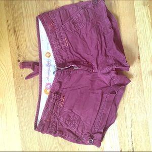Old school American eagle maroon shorts