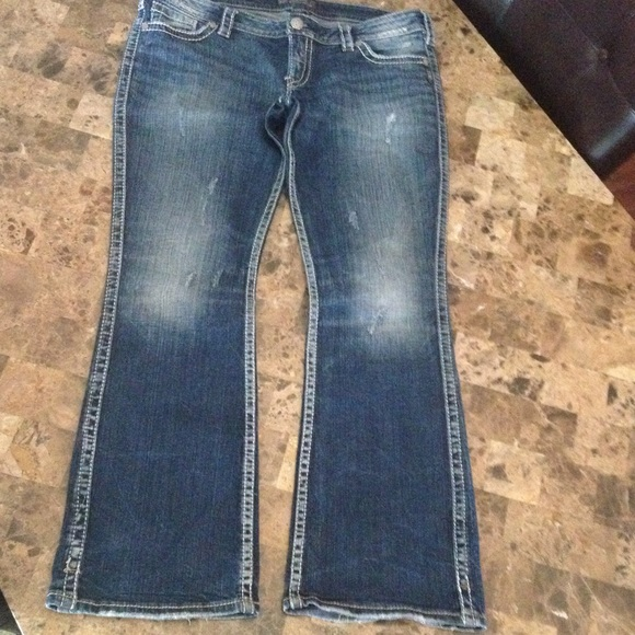77% off Silver Jeans Denim - Silver Twisted Jeans size 33/33 from