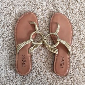 Franco Sarto gold sandals