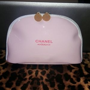  Chanel  Pink Makeup Case Bag