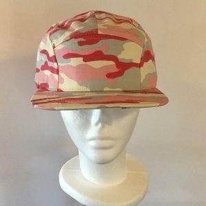 🌺 Pink Camo 5 Panel Biker Cap, NWOT