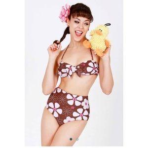 ModCloth Other - Floral Retro Bikini