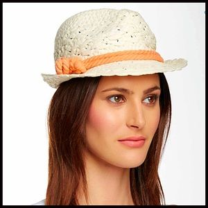 SUN HAT Woven Fedora Hat