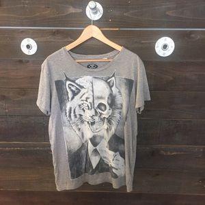 Skull and Lynx Gentleman T Shirt