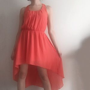 L'atiste Dresses & Skirts - L'ATISTE Coral High-Low Dress