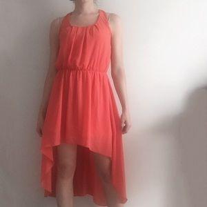 L'atiste Dresses - L'ATISTE Coral High-Low Dress