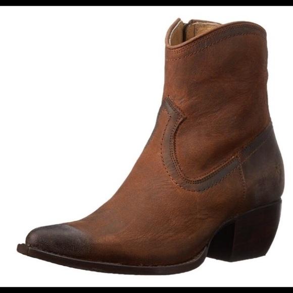 Creative Frye Carson Lug Short Womens Leather Western Boots Used | EBay