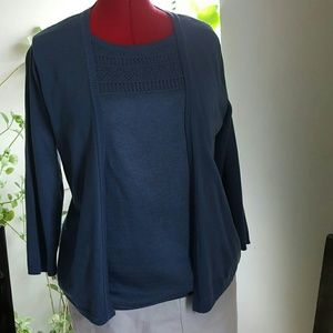 Alfred Dunner Tops - Sale! Alfred Dunner cardigan and built in tank.