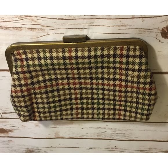 J. Crew Handbags - Plaid J Crew clutch purse