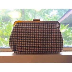 J. Crew Bags - Plaid J Crew clutch purse