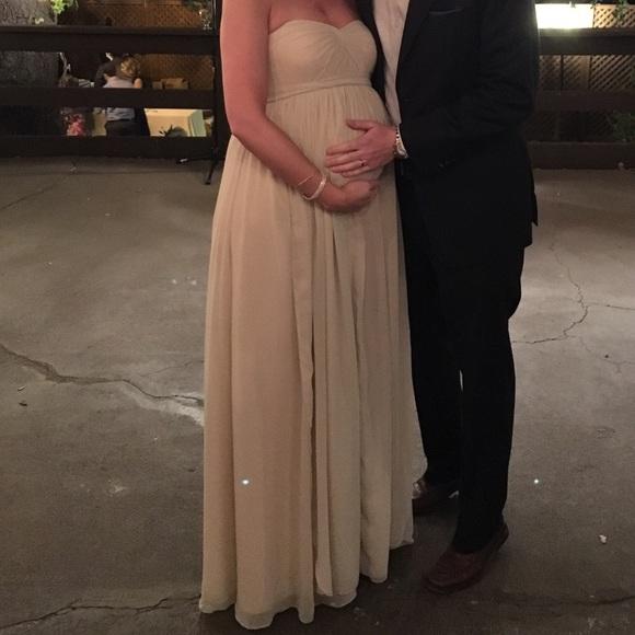 Champagne Maternity Dress
