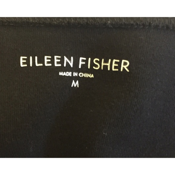 Eileen Fisher Tops - EUC Eileen Fisher black cotton top size medium