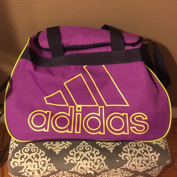 1e0a89faaa adidas Handbags - Purple and Neon Green Adidas Gym Bag