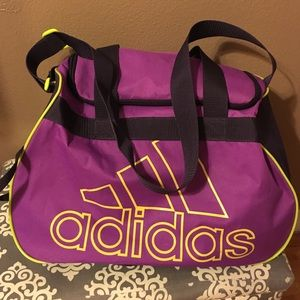 70dd334336 adidas Bags - Purple and Neon Green Adidas Gym Bag