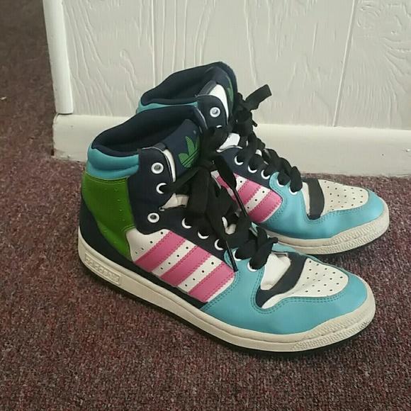 Adidas calzado Vintage alta tops poshmark 1990