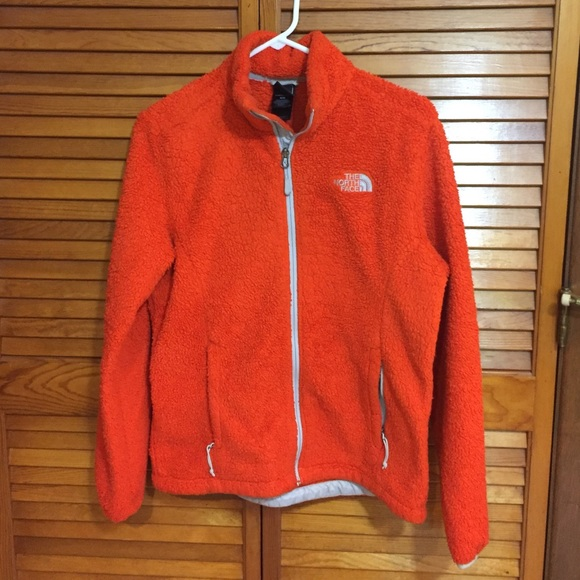 The North Face - women's orange north face fleece zip up size M ...