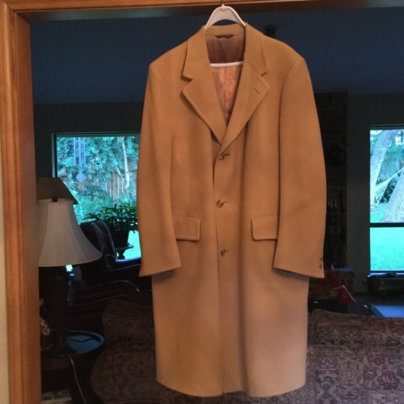 Malcolm Kenneth - Men's Cashmere Full Length Top Coat from ...