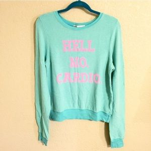 Wildfox Sweaters - ❗️FINAL PRICE❗️NWT Wildfox Hell No Cardio Jumper