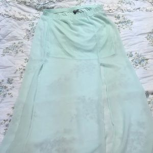 Express mint green skirt