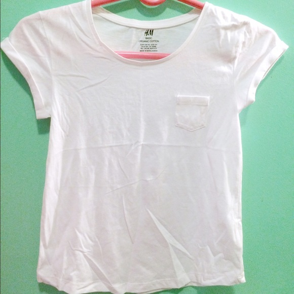 Plain TopsKids White Girls With Shirt H Shirtsamp; amp;m Hm Pocket F1uTlKcJ35