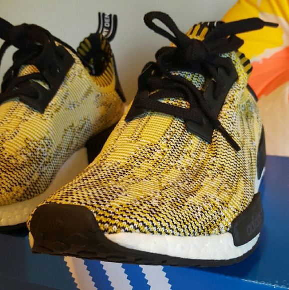f0c3229ee Adidas nmd camo pk Glitch yellow gold