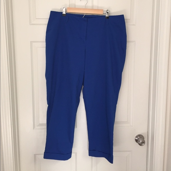 73% off Lane Bryant Pants - Lane Bryant Royal Blue Capris from ...