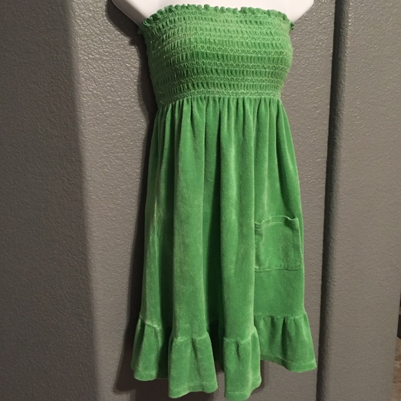 2f99c059446 Juicy Couture Dresses   Skirts - Juicy Couture Green Terry Cloth Dress Cover  Up