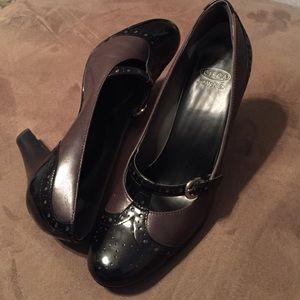 Joan & David Shoes - Joan & David (Circa) Mocha/Black Pumps - 7 1/2M