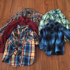 Other - 5 long sleeve plaid button down shirts