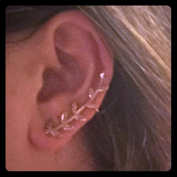 Mia Fiore Jewelry Rose Gold Leaf Cuff Earrings Poshmark