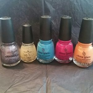 5 China Glaze Nail Polishes