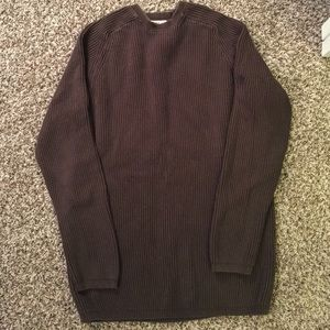 *LAST CHANCE*  Thick brown sweater