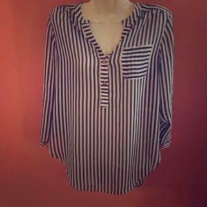 Navy and White striped tunic