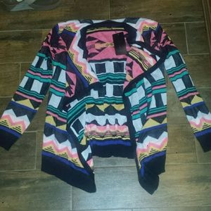 ZFRF Basic Collection Sweaters - Neon Aztec Cardigan