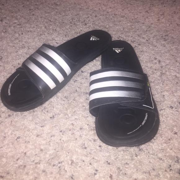 1a6219581 adidas Shoes - Velcro Adidas sports slides