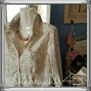 2/$15 Sag Harbor Stretch Floral Button Down