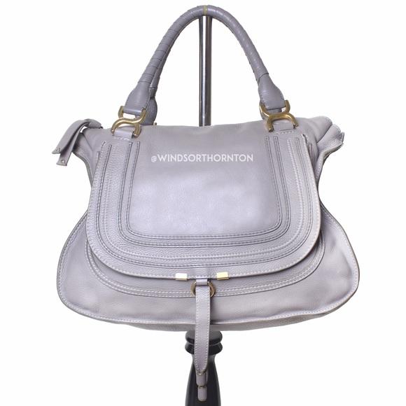 b1427db55d7 Chloe Bags | Chlo Marcie Large Satchel Bag Cashmere Gray | Poshmark