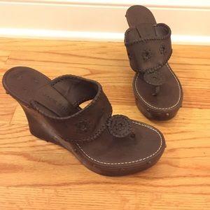 Jack Rogers Shoes - Jack Rogers Marbella Wedge Sz 9.5 NEW
