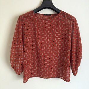 Foreign Exchange Tops - Cold Shoulder Shirt Blouse