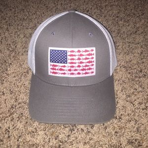 Columbia Accessories -  1 HOUR SALE  GREY COLUMBIA AMERICAN FLAG PFG HAT! 1d922e2d365