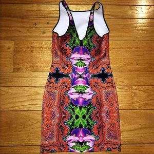 Clover Canyon Dresses & Skirts - Clover Canyon Kaleidoscope Neoprene Bodycon Dress