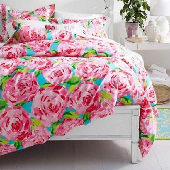 50% off Lilly Pulitzer Other - Lilly Pulitzer full/queen duvet ... : lilly pulitzer quilts - Adamdwight.com