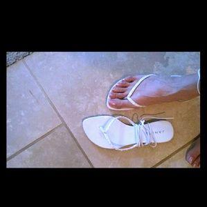 White sexy strappy sandals