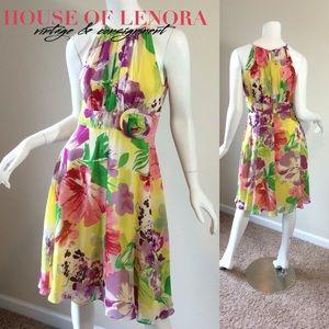 Madison Dresses & Skirts - MADISON Floral Silk Dress