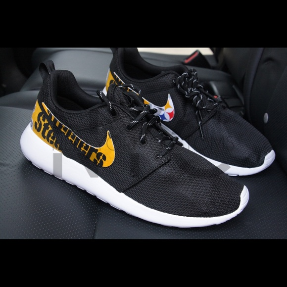37563a7c8cc4 ... Nike Shoes - Pittsburgh Steelers Nike Roshe One Custom Men ...
